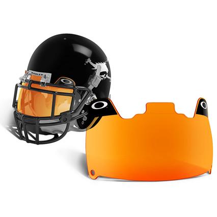 how to put a visor on a football helmet